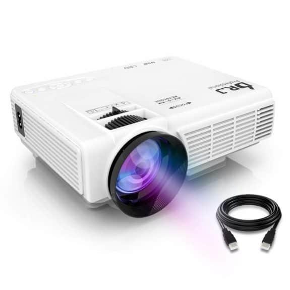 DR.J 4Inch HD 1080P Video Mini Projector